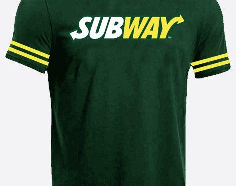 Dark Green Subway T Shirt