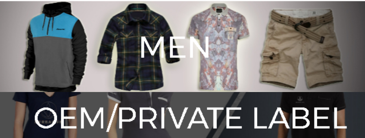 Excellent Export Quality Wholesale Men's Clothing and Private Label Clothes Online