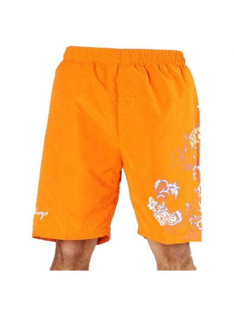 Wholesale Fashionable Orange Beach Men's Shorts Manufacturer