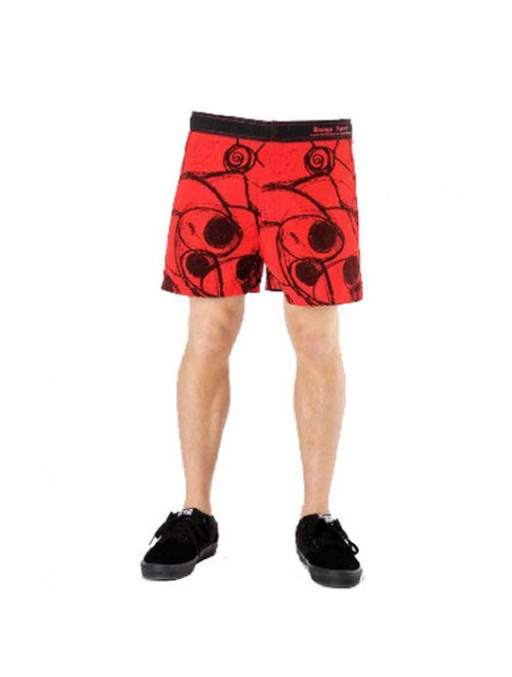 Wholesale Red and Black Printed Beach Men's Shorts Manufacturer
