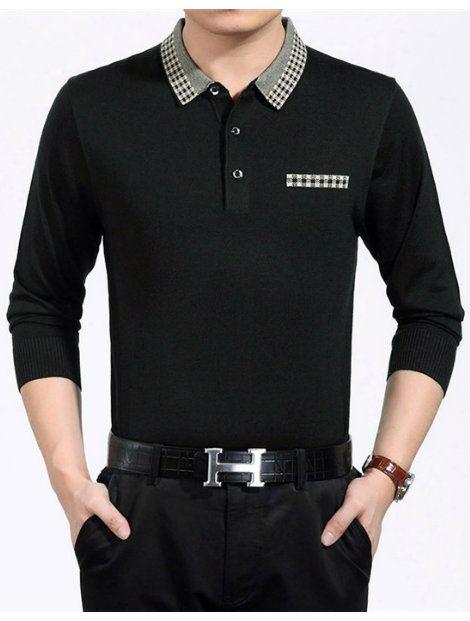 Wholesale Awesome Black Polo T Shirt