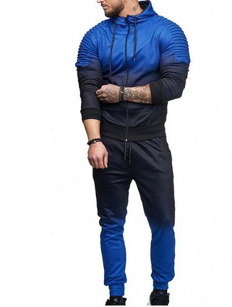 Wholesale Black And Indigo Sports Tracksuit Manufacturer