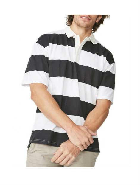Wholesale Fashionable Black And White Polo T Shirt