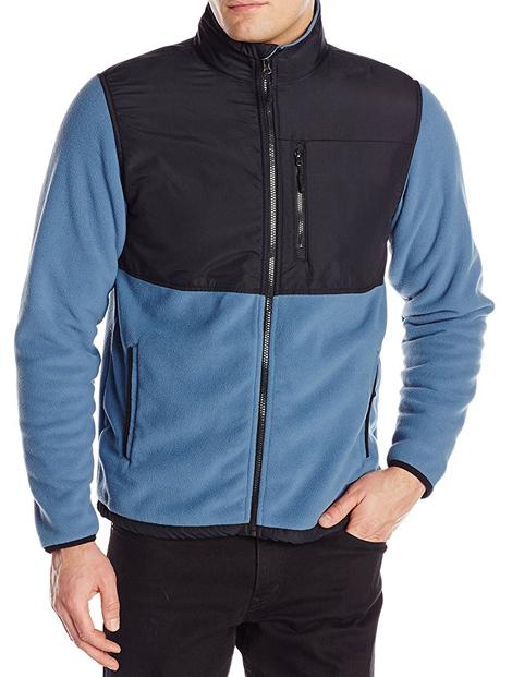 Wholesale Blue and Black Polar Fleece Jacket Manufacturer