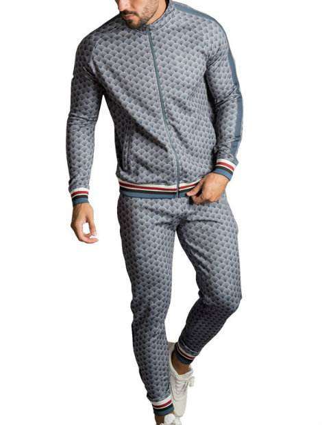 grey pop blue custom tracksuit wholesale