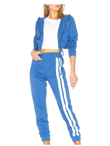 blue and white tracksuit top manufacturer Canada