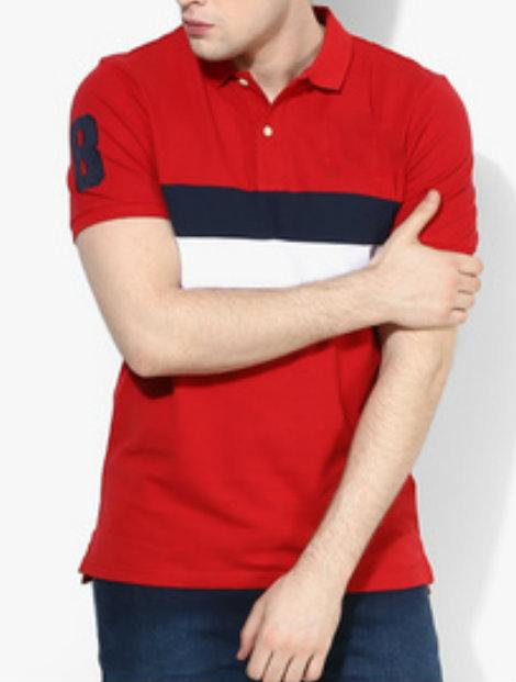 Wholesale Bright Red Polo T Shirt