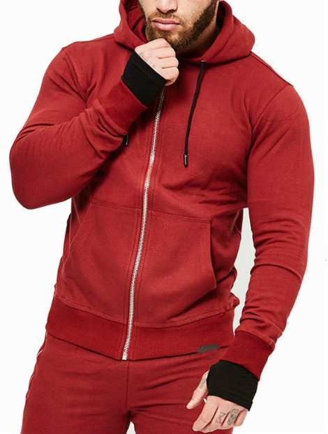 Wholesale Classy Red Hood Jacket Manufacturer