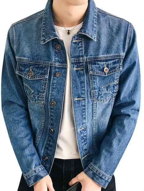 Wholesale Dark Blue Denim Jacket Manufacturer