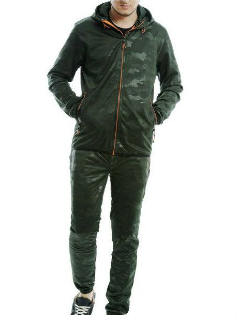 Wholesale Dark Green Block Tracksuit Jacket Manufacturer