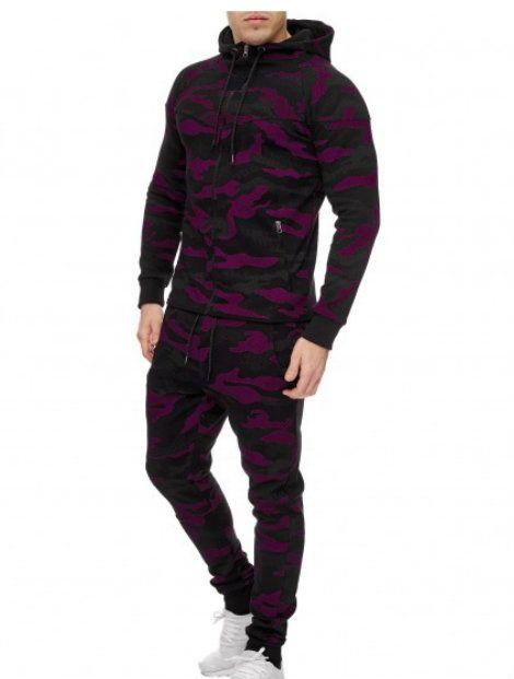Dark Purple Black Custom Tracksuit Wholesaler