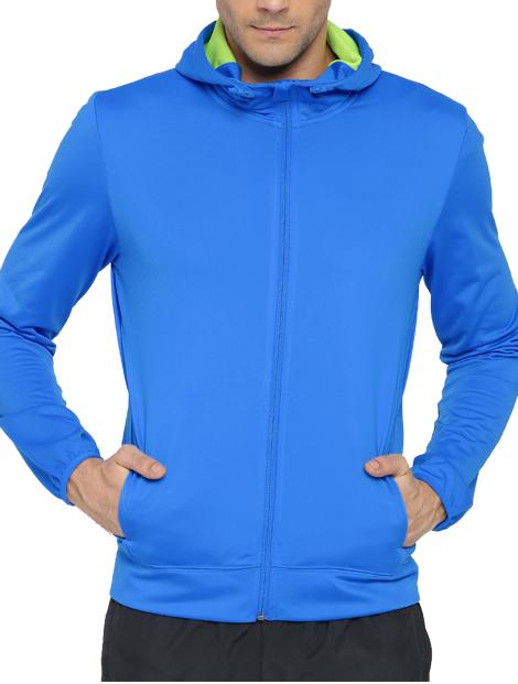 Wholesale Fabulous Blue Hood Jacket Manufacturer