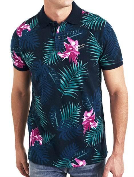 Wholesale Floral Polo T Shirt