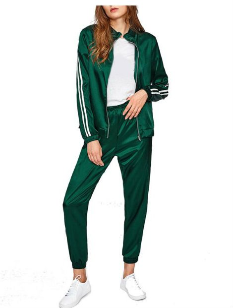 Wholesale Bold Green Tracksuit Jacket Manufacturer