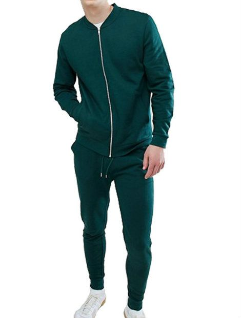 Wholesale Green and White Block Tracksuit Jacket Manufacturer