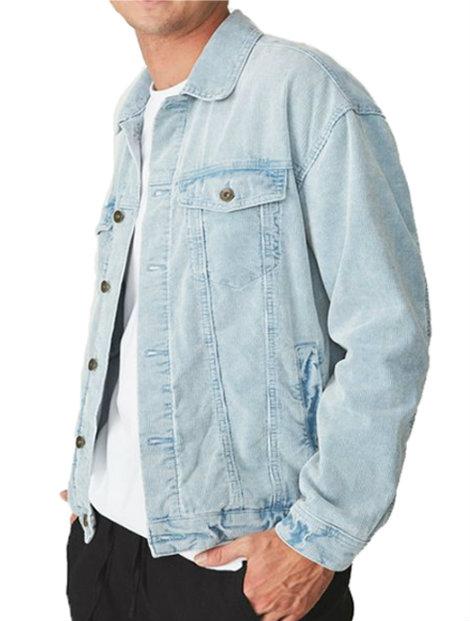 Wholesale Light Blue Trendy Denim Jacket Manufacturer