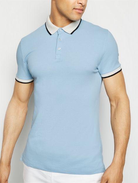 Wholesale Pale Blue Polo T Shirt