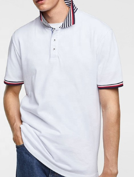 Wholesale Perfect White Polo T Shirt