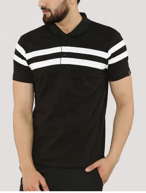 Wholesale Black And White Polo T Shirt