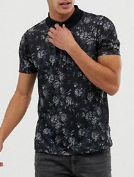 Wholesale Printed Polo T Shirt