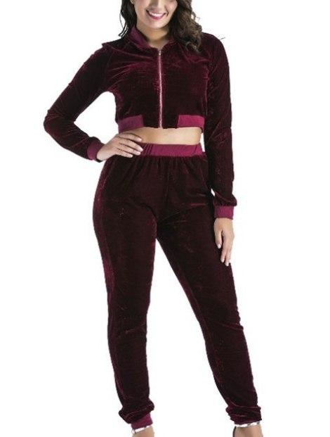 Wholesale Black and Purple Custom Tracksuit