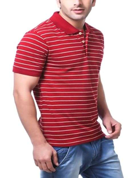 Wholesale Collared Red Polo Tee