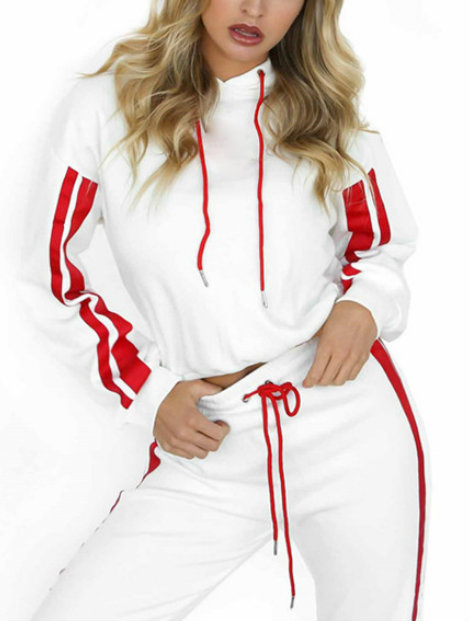 Wholesale Red and White Microfiber Tracksuit