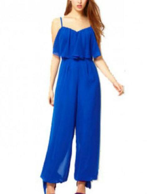 Wholesale Royal Blue Jumpsuit Manufacturer