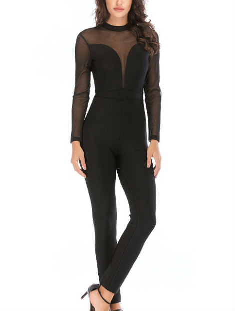 Wholesale Sophisticated Black Jumpsuit Manufacturer