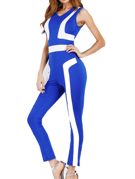 Wholesale Striking Blue Jumpsuit Manufacturer