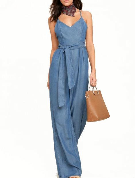 Wholesale Stylish Blue Jumpsuit Manufacturer