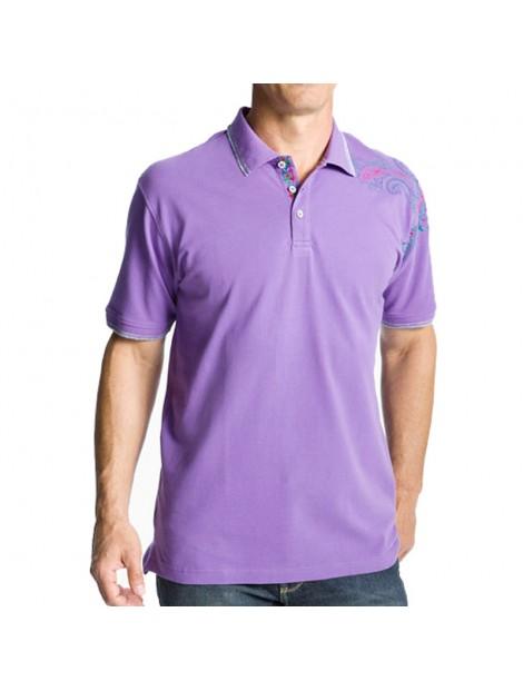 Wholesale Purple Polo T Shirt