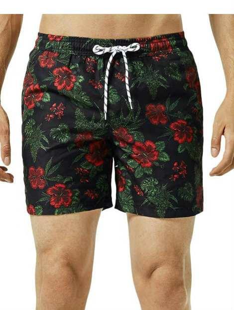 Wholesale Trendy Black Beach Men's Shorts Manufacturer