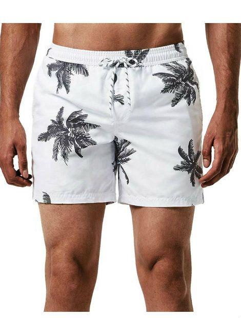 Wholesale Smart White Floral Beach Men's Shorts Manufacturer