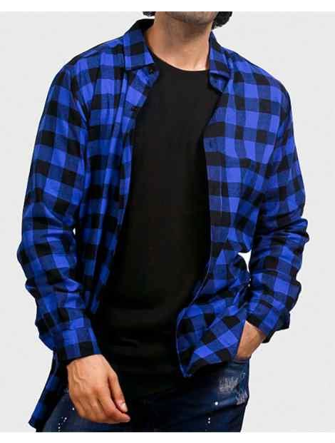 Wholesale Basic Blue Check Shirt Manufacturer