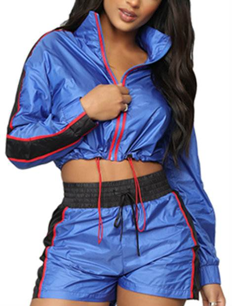 soothing blue custom fitness tracksuit manufacturer usa