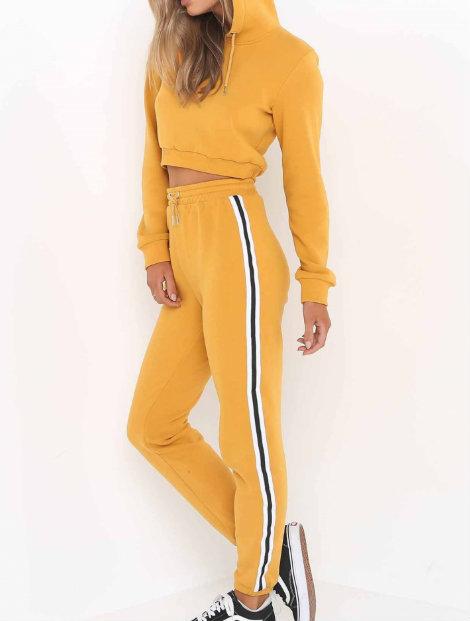 Wholesale Mustard Yellow Custom Tracksuit