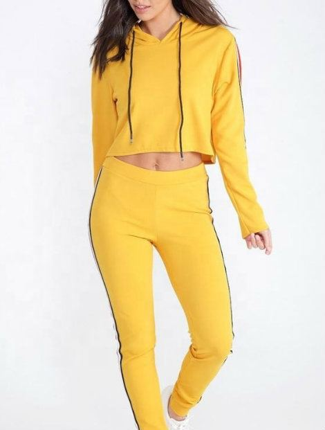 Wholesale Black and Yellow Block Custom Tracksuit Manufacturer