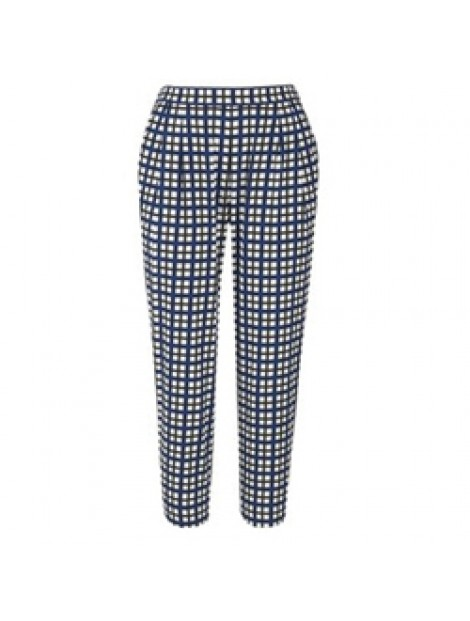 Wholesale Pleated Checkered Women's Flannel Pants Manufacturer