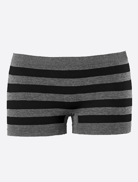 Wholesale Black and Grey Stripe Seamless Shorts Manufacturer