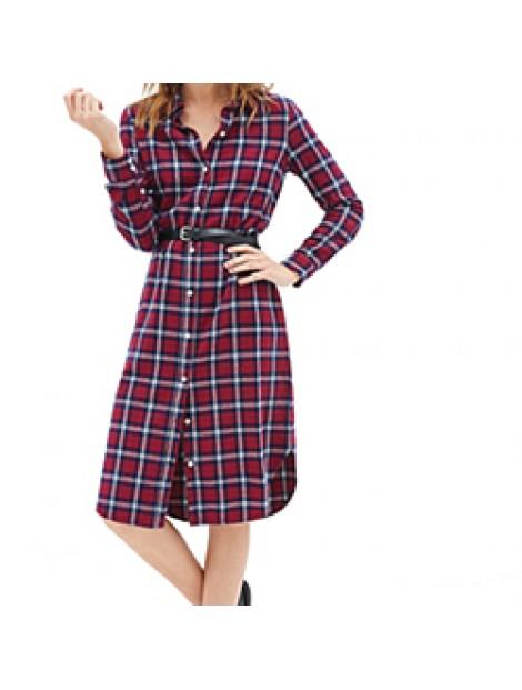 Wholesale Plush Purple Flannel Dress Shirt Manufacturer