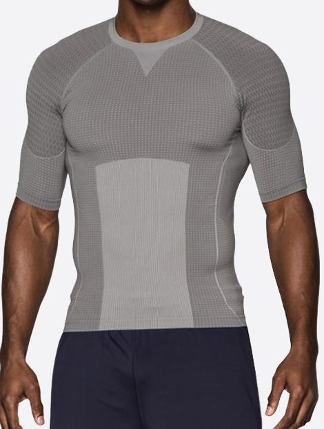 Wholesale Soft Grey Seamless Mens Vest Manufacturer