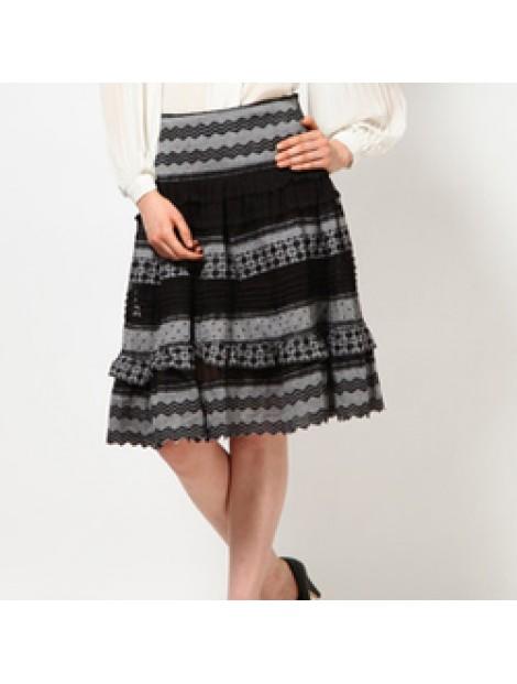 Wholesale Printed Black Skirt Manufacturer
