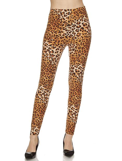 Wholesale Animal Printed Brown Women's Leggings Manufacturer