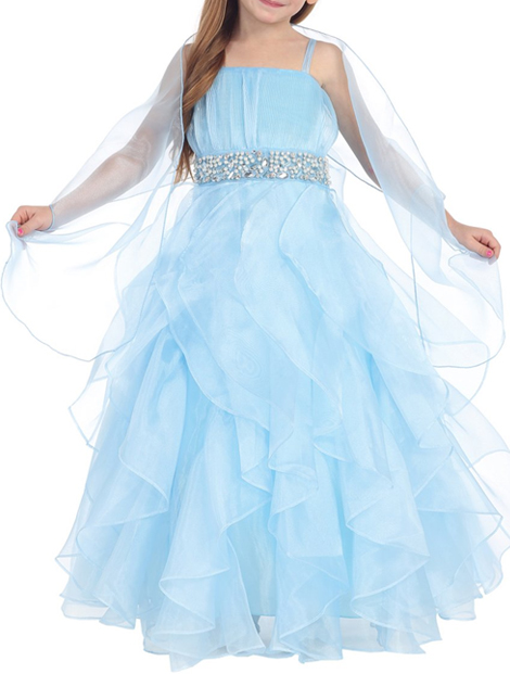 Attractive Blue Girl's Dress Manufacturer i