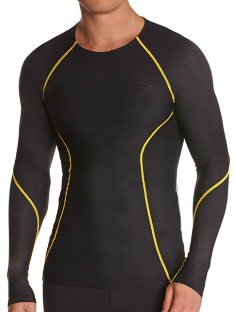 Wholesale Black and Golden Men's Compression Tee