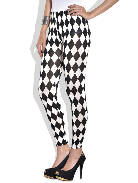 Wholesale Black And White Printed Women's Leggings Manufacturer