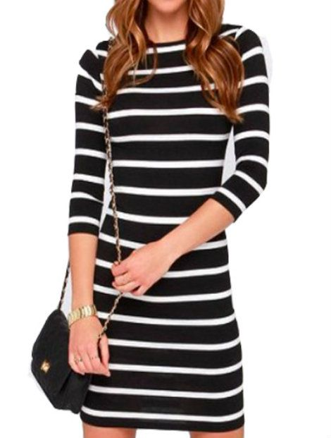 Wholesale Black And White Women's Dress Manufacturer