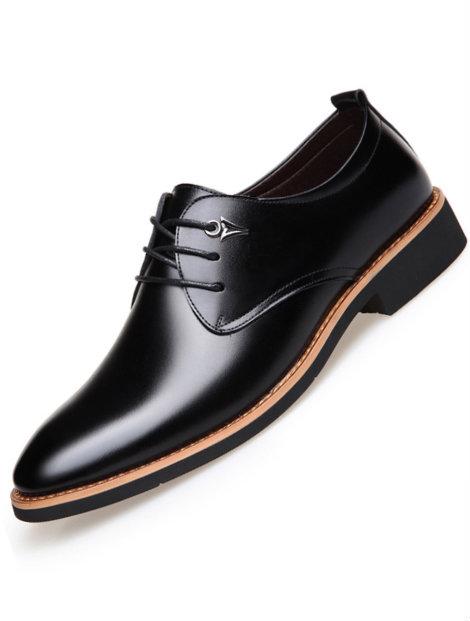 Wholesale Black Classy Men's Dress Shoe Manufacturer