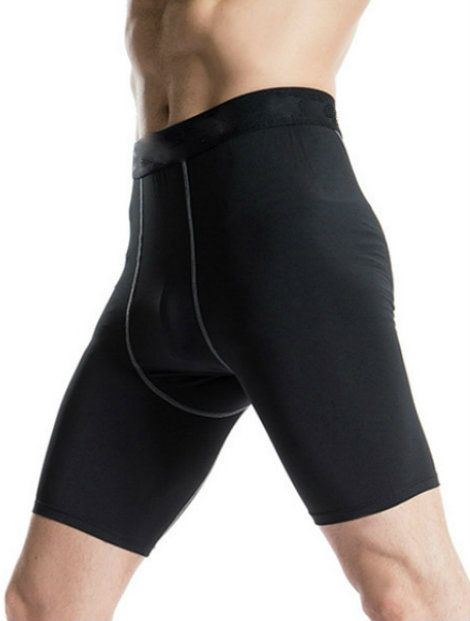 Wholesale Cool Compression Men's Black Shorts Manufacturer